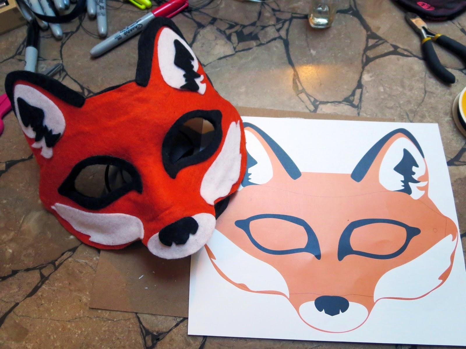 DIY Felt Fox Mask