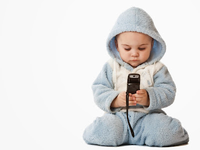 child with mobile