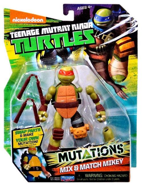 JUGUETES - LAS TORTUGAS NINJA : Mutations  Mix & Match Mikey | Michelangelo | Figura - Muñeco Teenage Mutant Ninja Turtles | TMNT | Nickelodeon Producto Oficial 2015 | Playmates- Giochi Preziosi | A partir de 4 años