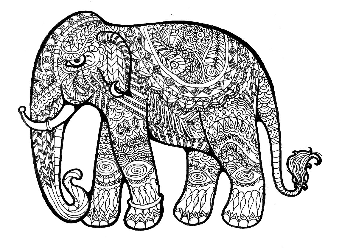 Elephant Drawing 3D