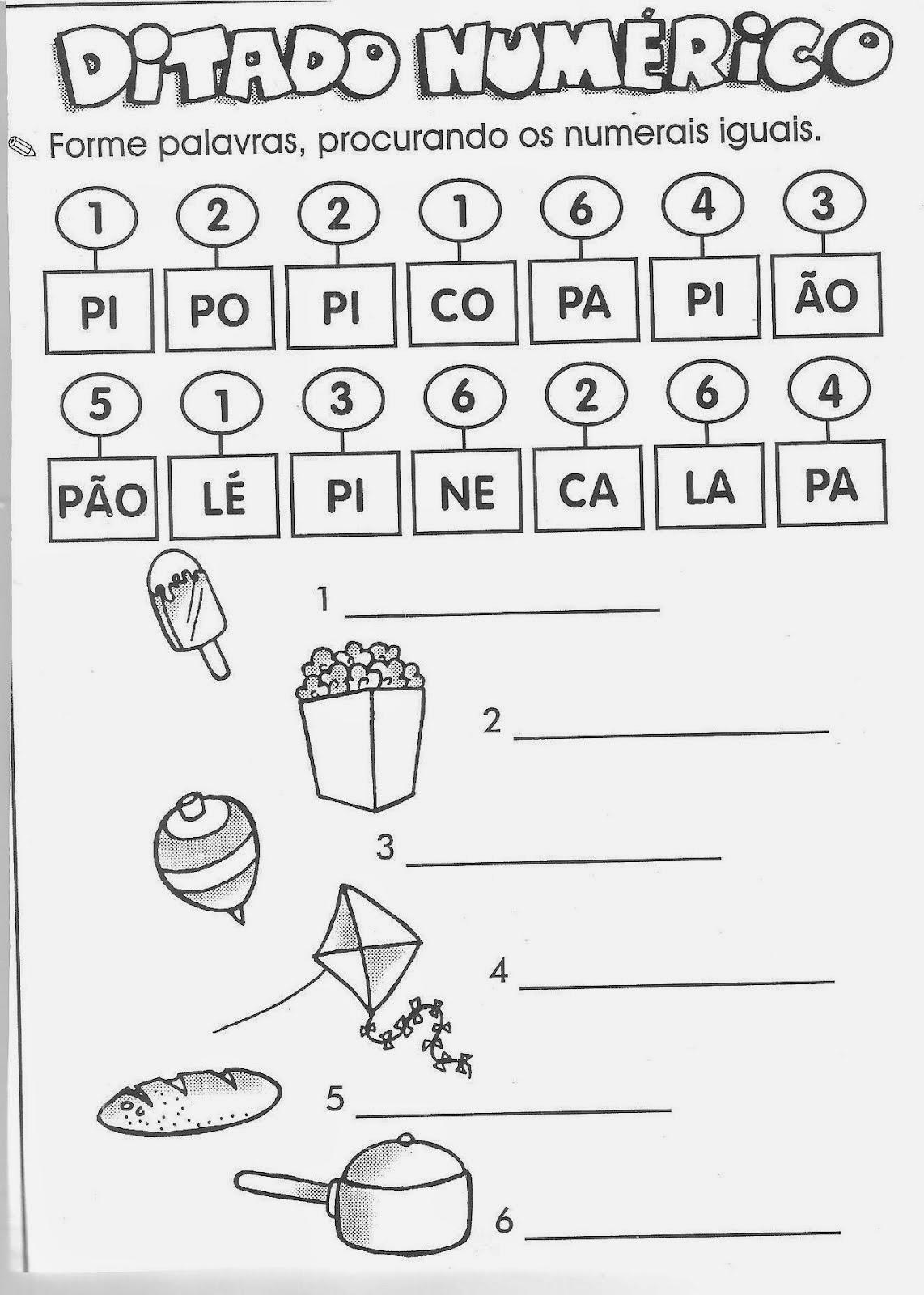 Preferência Escola Saber: Atividades português 1 ano alfabetização YC03