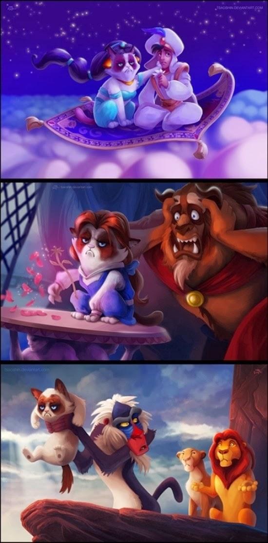 Grumpy Cat protagonista de los clásicos Disney
