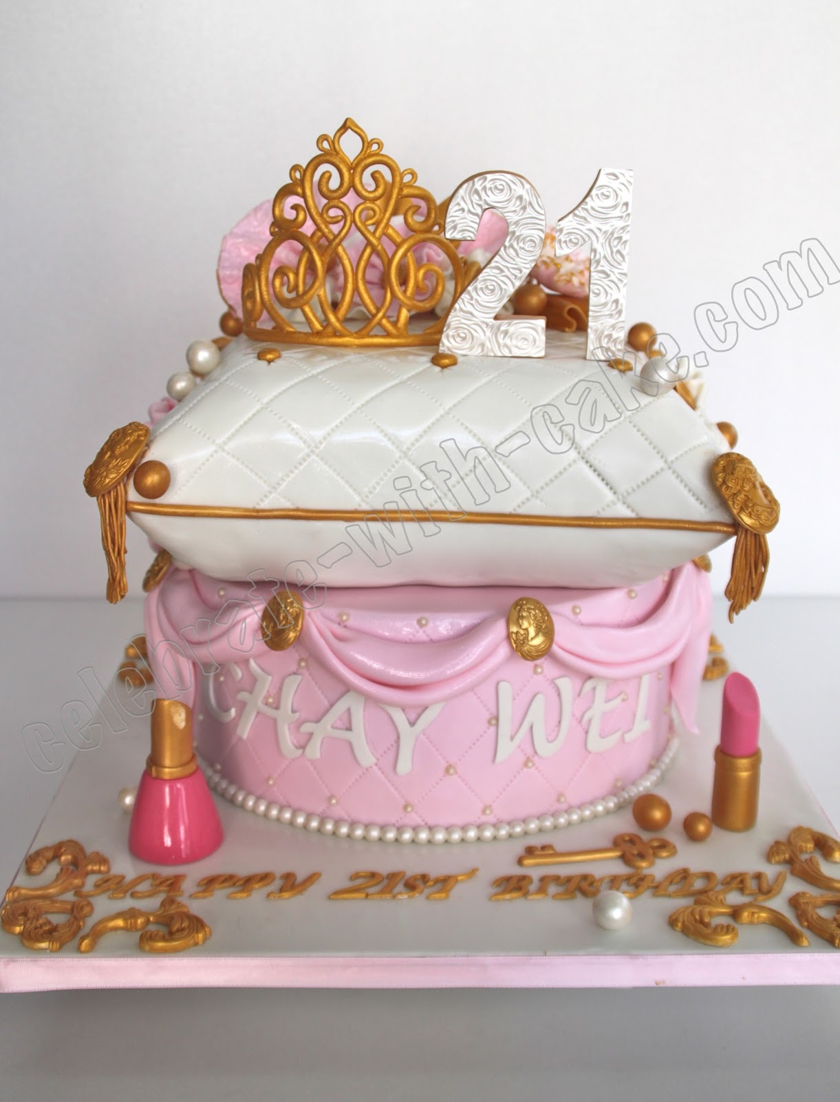 Princess Pillow Cake Images : Celebrate with Cake!: Princess Tiara and Pillow Cake