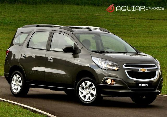 Foto oficial da Chevrolet Spin, Chevrolet Spin dianteira