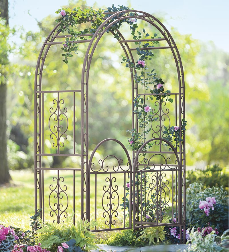 Iron Arbor With Gate Autumn Weddings Pics