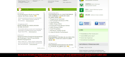 Hasil TKD CPNS Kemenkes 2013