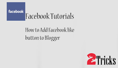 Facebook like button to Blogger