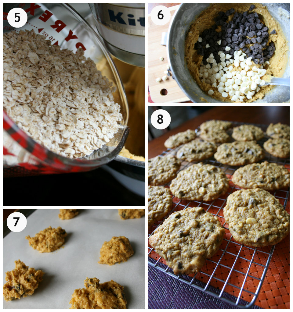 Pumpkin Oatmeal DOUBLE Chocolate Chip Cookies - Family Fresh Meals