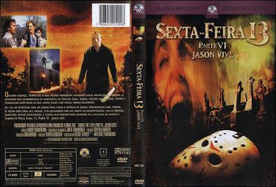 Filme Sexta-Feira 13 Parte 6 - Jason Vive DVD Capa