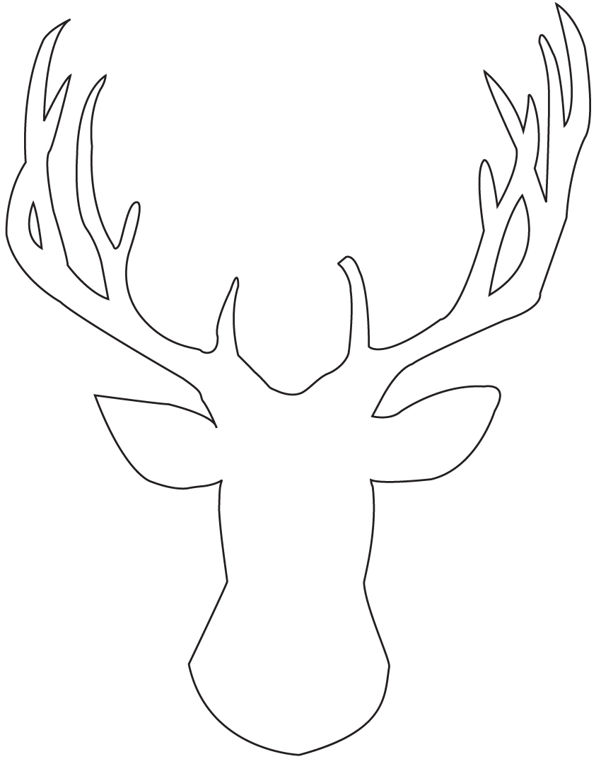 Instead I found a deer silhouette image online that was free for ...