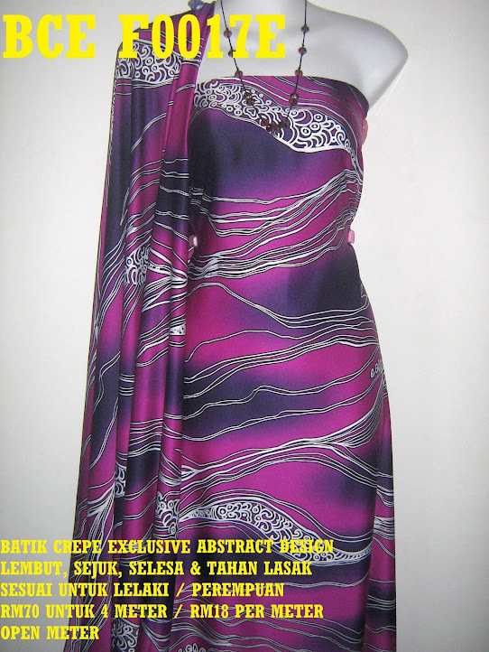 BCE F0017E: BATIK CREPE EXCLUSIVE  ABSTRACT DESIGN