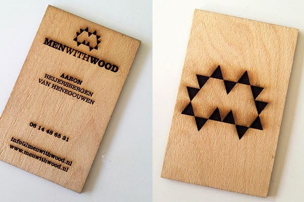 25 astonishing wood business cards from most talented designers wood business card reheart Choice Image