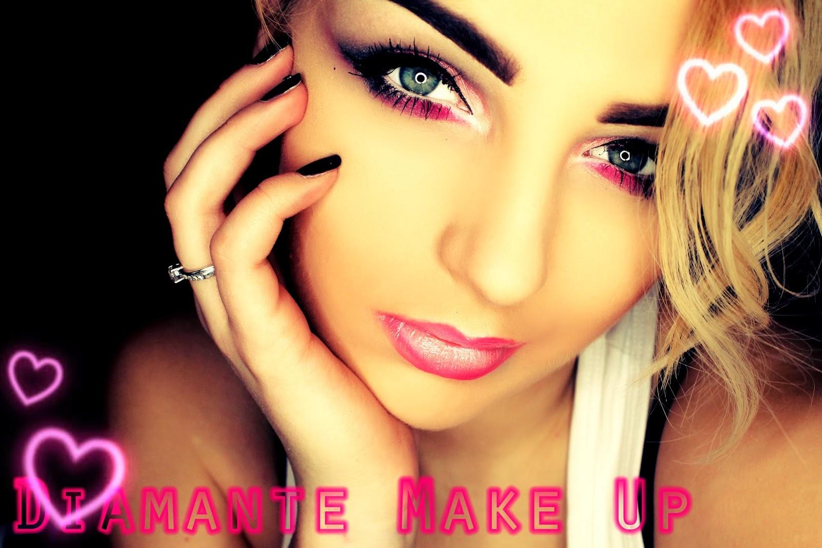 Makijaż Walentynkowy Szaro - Różowy #1