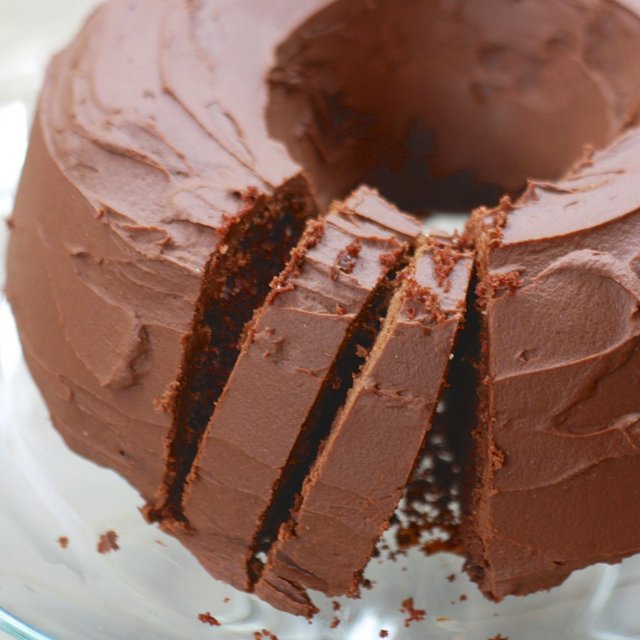 chocolate bundt cake with chocolate ganache
