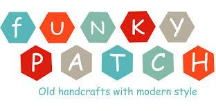 logotipo funky patch artesania en tela