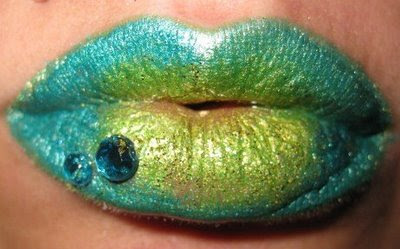 rainbow painted lips by - photo #24