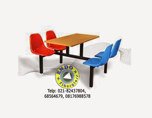 Jual Meja Kursi Fiberglass Murah untuk kantin sekolah