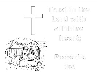 Fear not for i am with you coloring page for Trust god coloring page