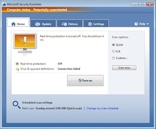 how to turn off microsoft security essentials permanently