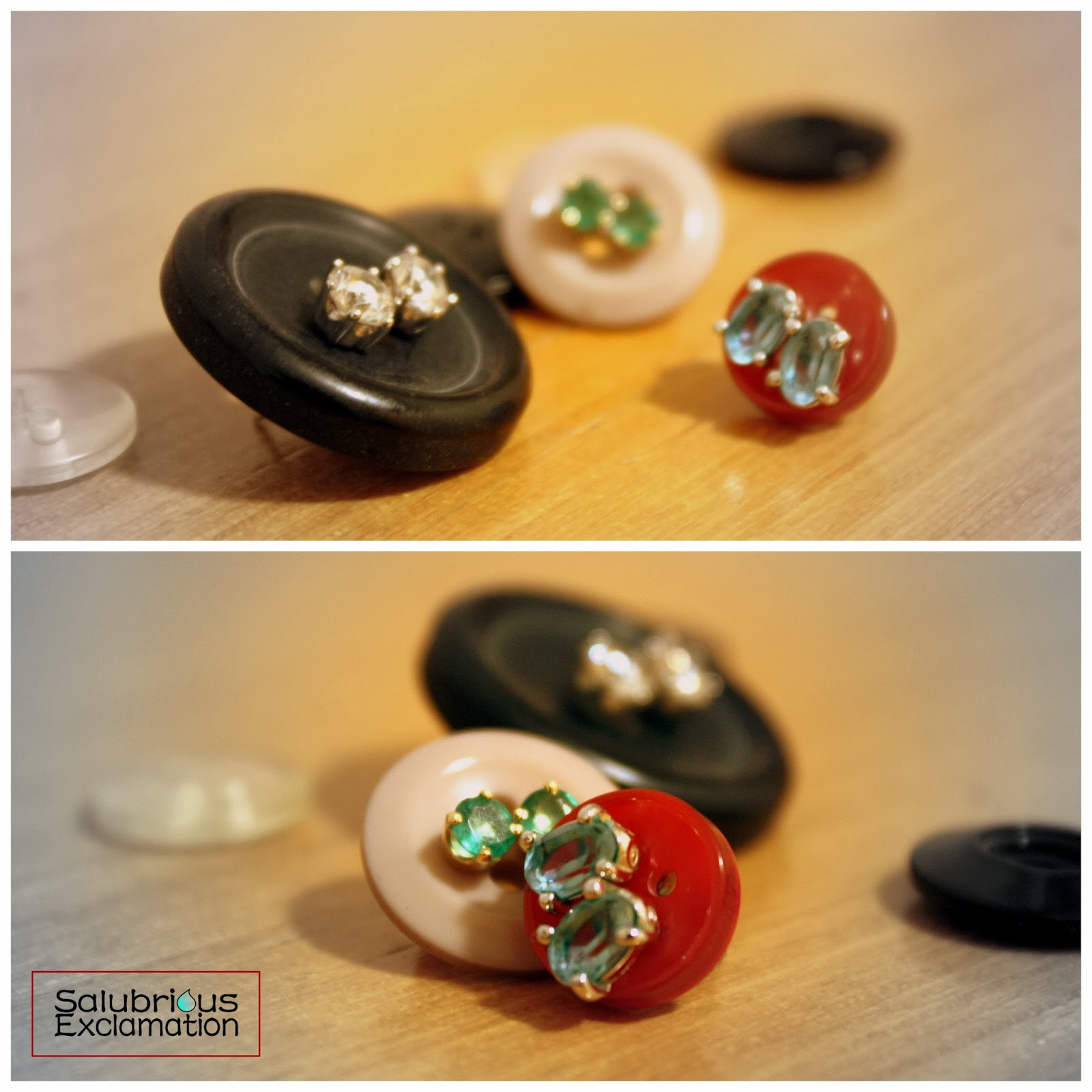 Use Buttons to Keep Your Earrings Together