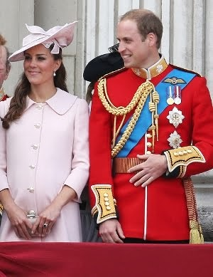 Royal Couple Attend Trooping of  the Colour