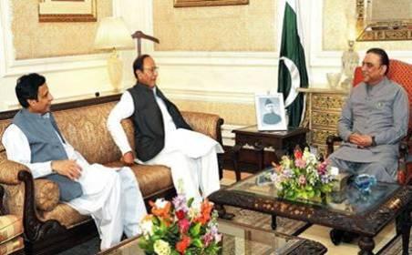 Pervez Elahi, Shujaat Hussain and Asif Ali Zardari