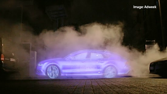 Audi Out of Home Advert Billboard Water Vapour Campaign