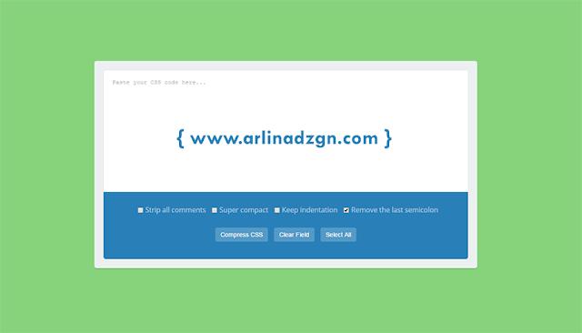 Cara Memasang Tool CSS Minifier di Laman Statis Blogger