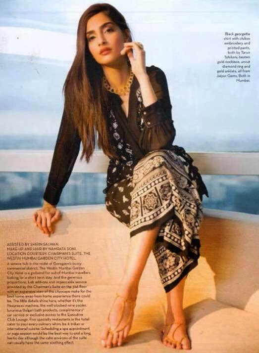 Sonam Kapoor in the latest issue of Verve India magazine