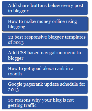 Custom Widget In Blogger