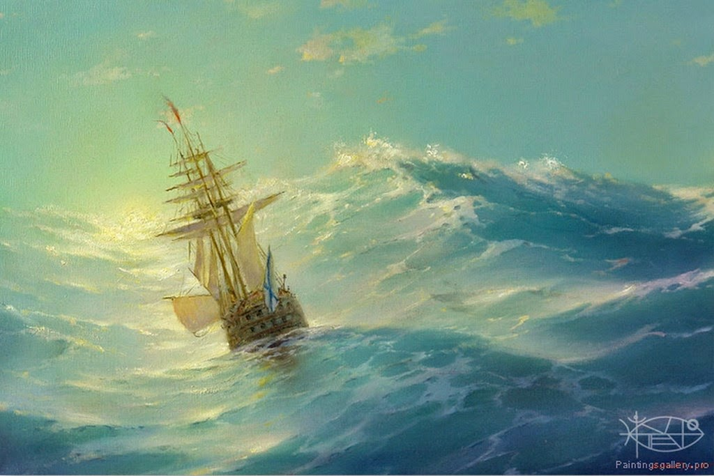 paisajes-con-barcos-de-vela-pintados-al-oleo
