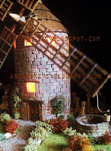 Mais detalhes do moinho de vento da Mancha, cuja apresentação iniciámos em Abril. / More details of the windmill from La Mancha, which presentation we started in April.
