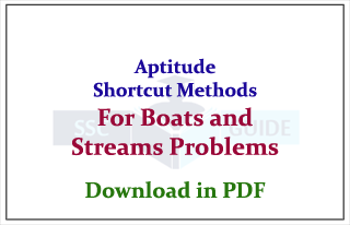 Aptitude Shortcuts Method for Boats & Streams Related Problems