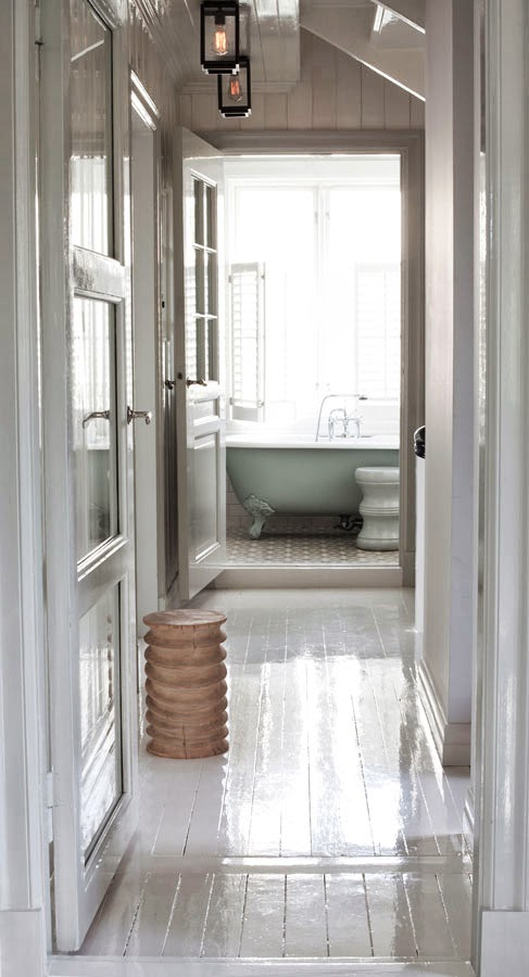 madera en pasillo