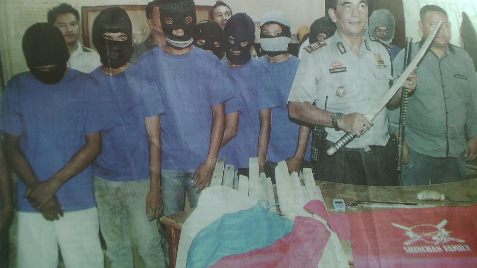 Ketua Dan Anggota Geng Motor Sinchan Dibekuk Aparat Polsek Bengkong