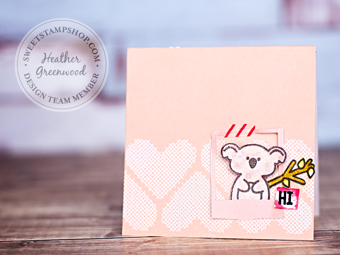 handmade card by Heather Greenwood, using Koala Family stamp set by Sweet Stamp Shop