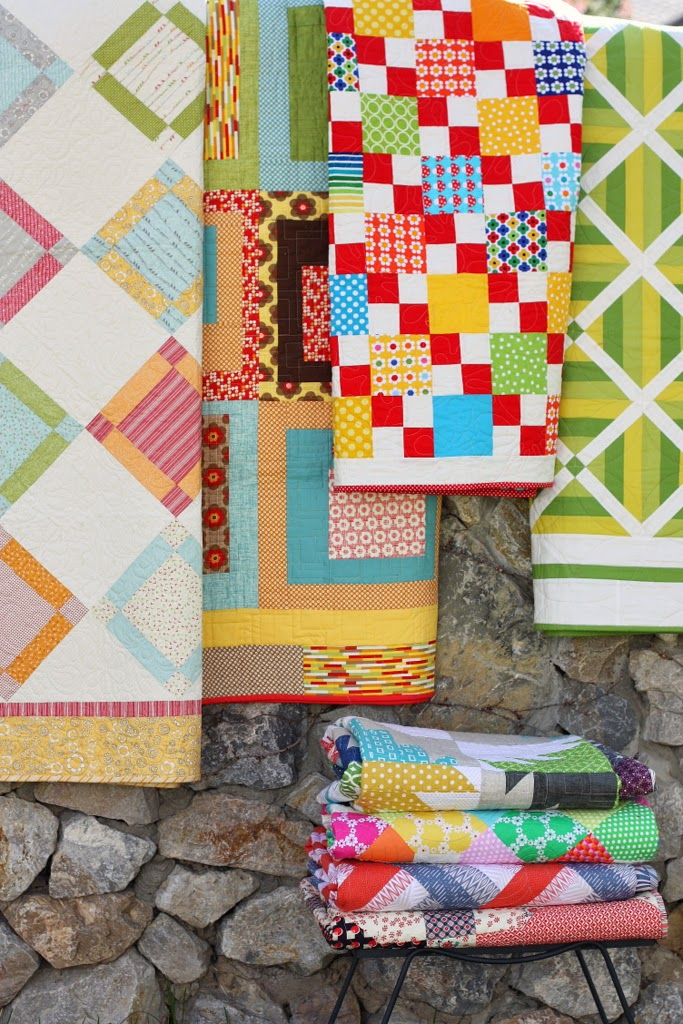 Quilts from the Fabulously Fast Quilt book by Amy Smart.