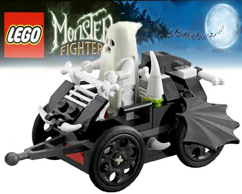 Best Toy Monster Lego ghost train railway set shocking Vampire bat spectacular train and carriage wagons
