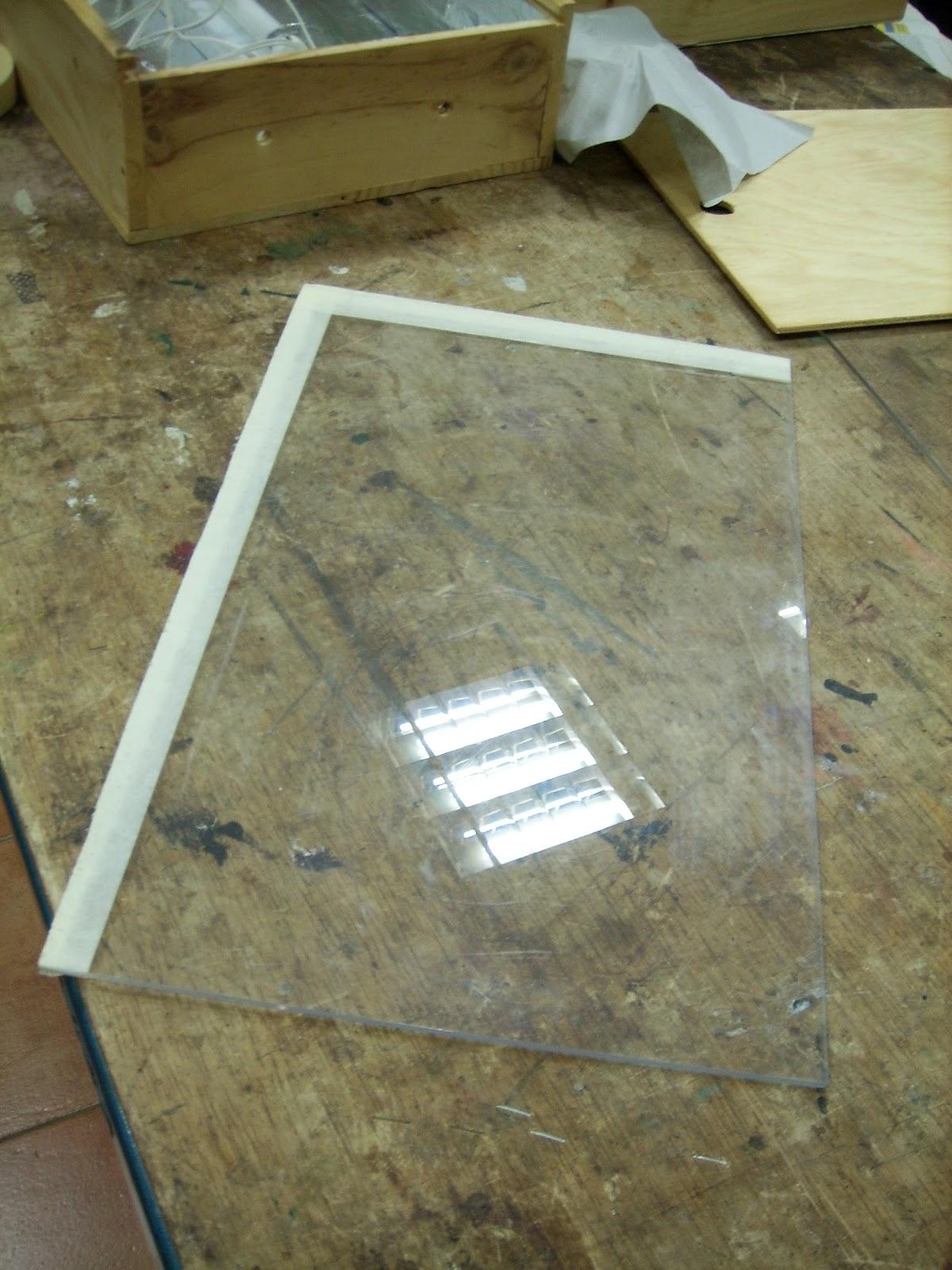 Raquel mira bastidas como fabricar una caja de luz de - Como poner bloques de vidrio ...