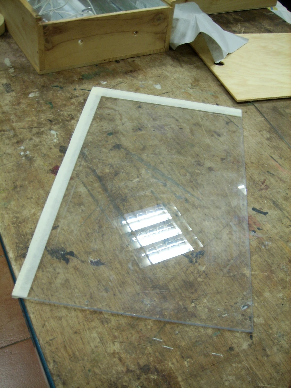 Raquel mira bastidas como fabricar una caja de luz de - Como poner fibra de vidrio ...