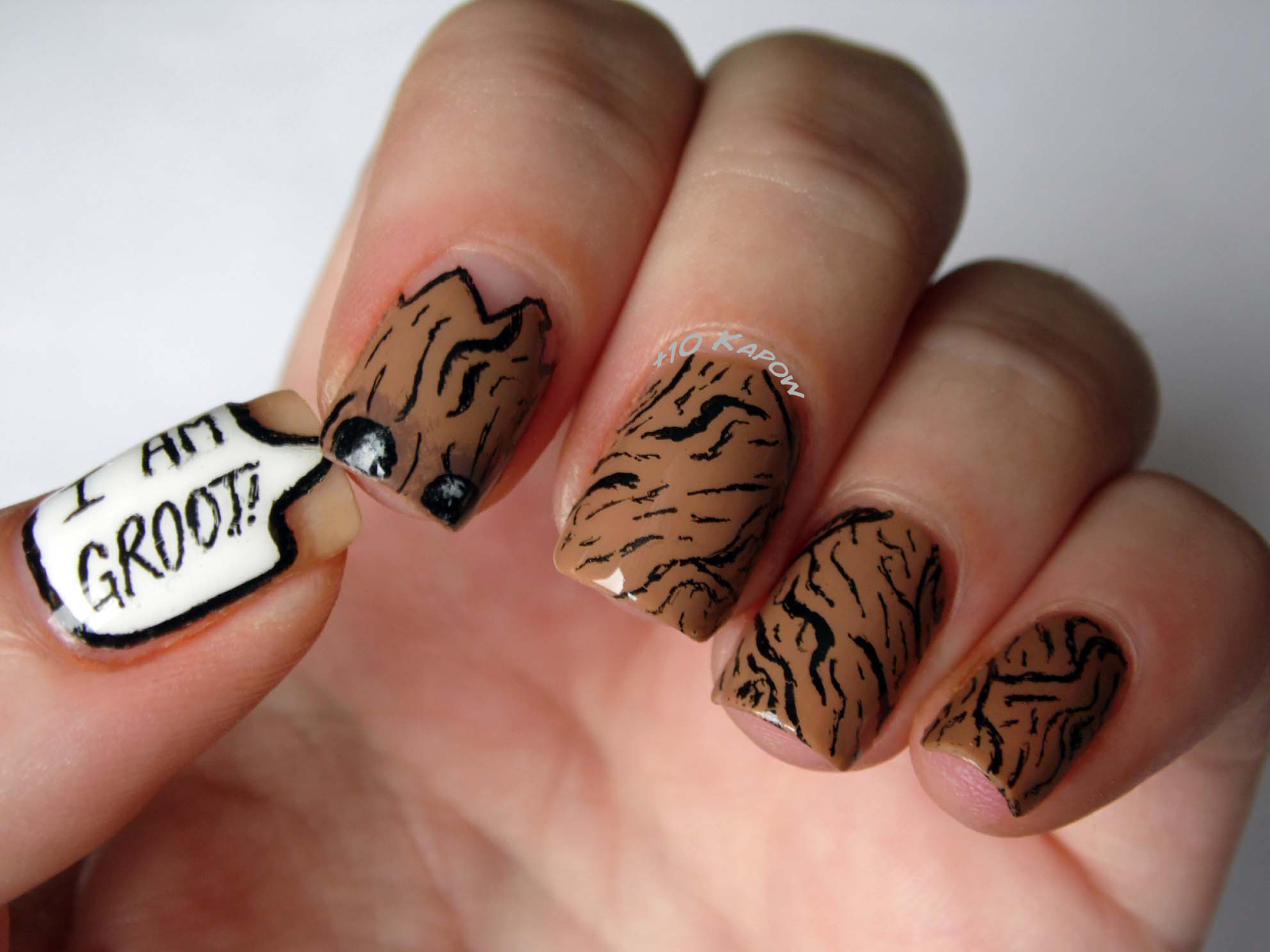 Plus10Kapow: I AM GROOT! Nails