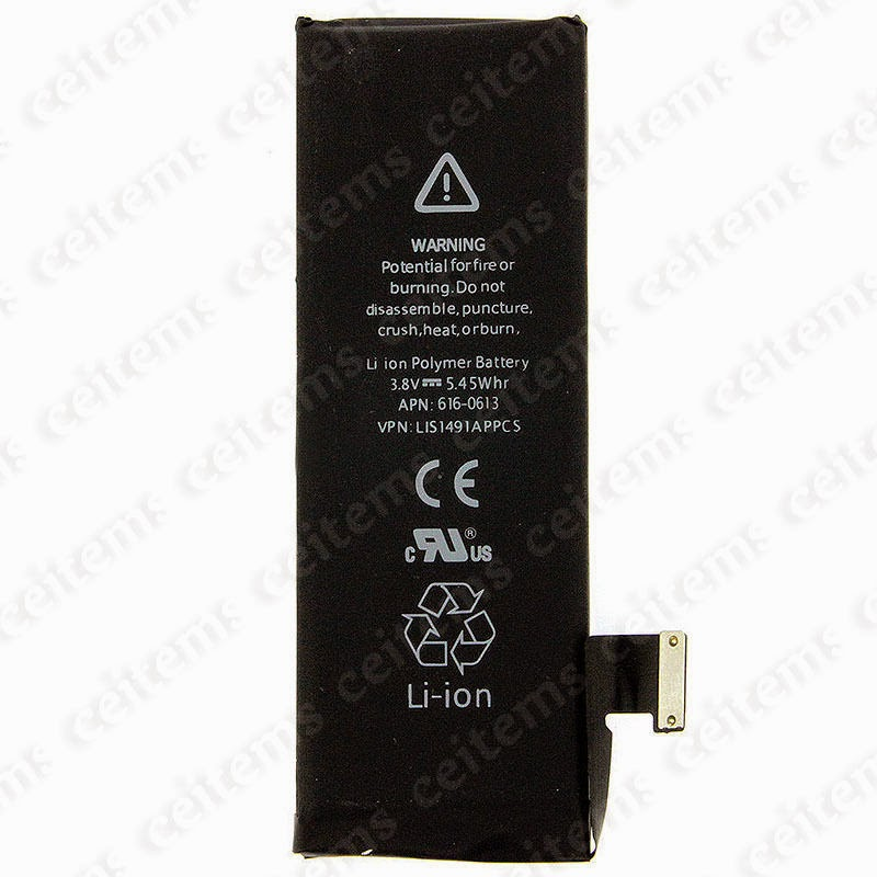 Original 1440mAh 3.8V Li-ion Battery Replacement With Flex Cable for iPhone 5 5G