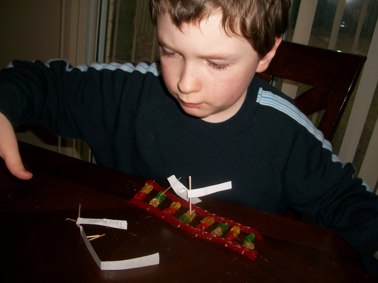how to make a dna model out of candy