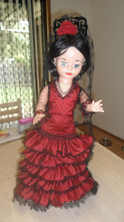 Dorelle's Flamenco Dancer doll with tatting