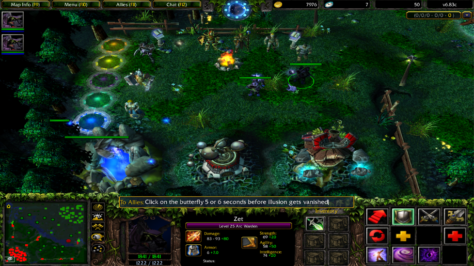 DotA 683c Arc Warden Infinite Gold Bug Found Dota Utilities
