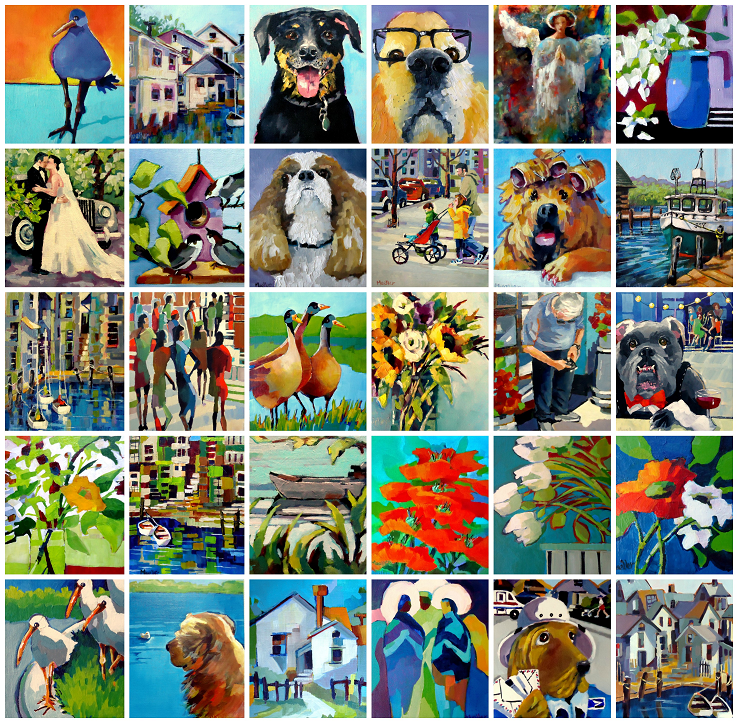 I completed 30 paintings in 30 days! January 2017