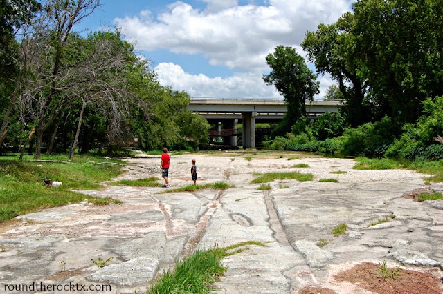 Where is the round rock in Round Rock, Texas?