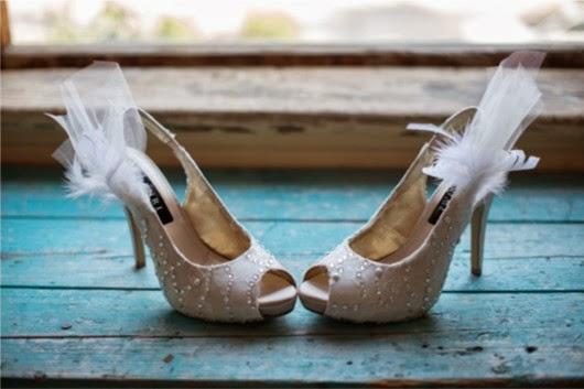 beading designed wedding shoes ideas