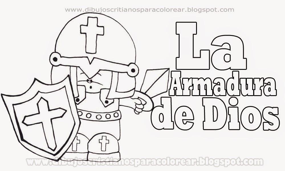 Dibujo de la armadura de Dios para colorear - Dibujos cristianos ...