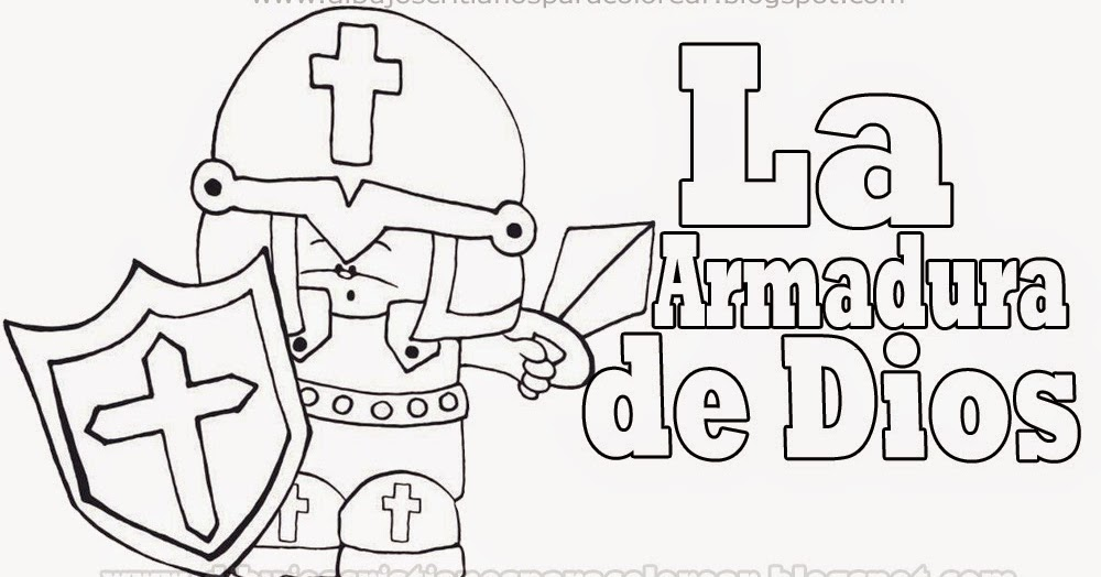 Excepcional Colorear La Armadura De Dios Embellecimiento - Dibujos ...